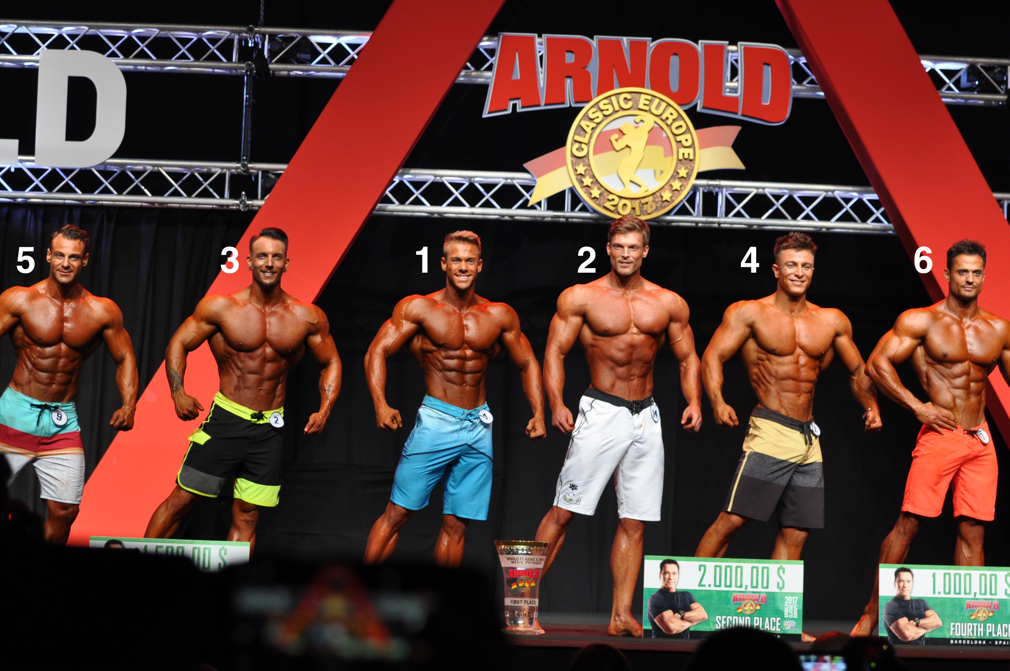Arnold Classic Europe 2017 Men's Physique top 6