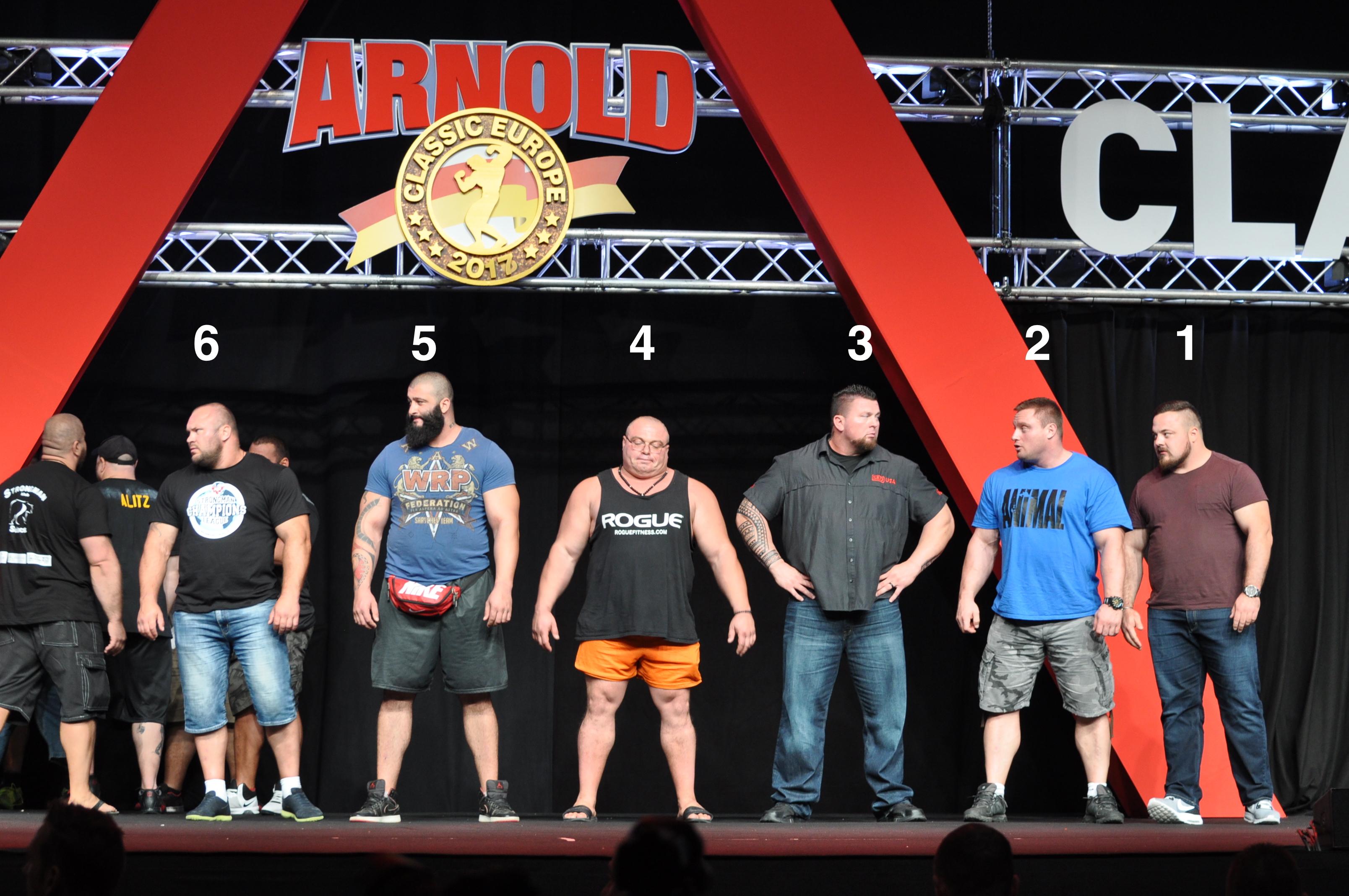 Arnold Classic Europe 2017 Strongmen top 6